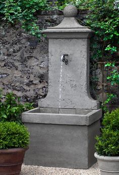 Free Shipping and No Sales Tax on the Vence Wall Outdoor Fountain from the Soothing Walls.