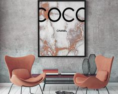 Coco Chanel rose gold marble print, Coco Chanel Print, Printable Coco Chanel, Coco Chanel Wall Art, Coco Chanel Digital Print, Coco Poster