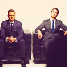 Harvey Specter and Mike Ross. SUITS! Love it :-)