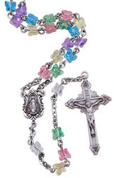 Swarovski Crystal Butterfly Bead Rosary. Sooo cute! A rosary after a little girl's heart!