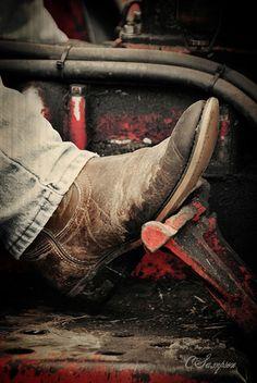 Cowboy Boots & a Tractor