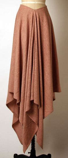 Ensemble Madame Grès (Alix Barton) (French, Paris 1903–1993 Var region) Date: late 1960s–mid-1980s Culture: French Medium: wool. Skirt
