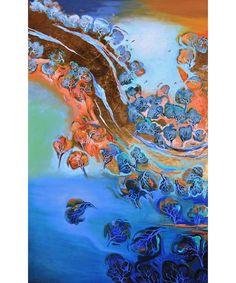 Abstarct Landscape Painting - Astrid Dahl - Abundance Now