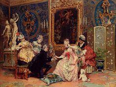 Luis Alvarez Catala (1836-1901)  Dressing For The Ball  Oil on canvas  1876