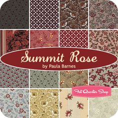 Summit+Rose+Fat+Quarter+Bundle+Paula+Barnes+for+Marcus+Brothers+Fabrics