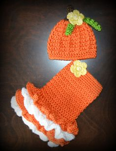 Crochet Pumpkin Costume Baby Tutu Dress with by CubbyCreations