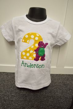 Personalized Unisex Barney Birthday SHIRT