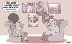 Dilma consulta Lula sobre Greves