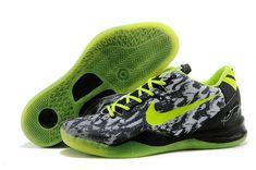 9e65a53cb60e Kobe 8 GS Graffiti Cool Grey Black Volt Lime Green Kobe 8 Shoes