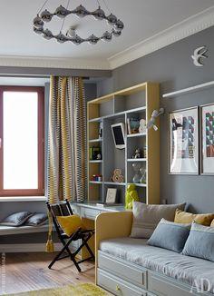 Вся мебель спроектирована на заказ по эскизам дизайнера.