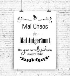 """""""Mal Chaos Mal Aufgeräumt"""" Kunstdruck  von MilaLu auf DaWanda.com"""