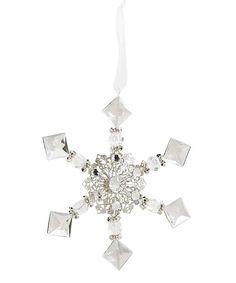 K&K Interiors Crystal Cube Snowflake 6 Ornament | zulily