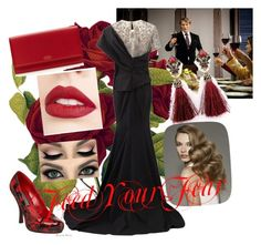 """""""Feed Your Fear"""" by narniachild on Polyvore featuring Marchesa, Funtasma, Smythson and Jouer"""
