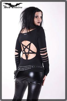 Hey, I found this really awesome Etsy listing at https://www.etsy.com/listing/112588134/lunatic-pentagram-gothic-shirt