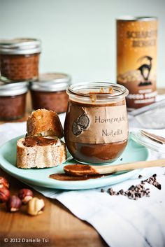 Grown-up Chocolate Hazelnut Spread (Nutella) (adapted from David Lebovitz and Su Good Sweets)