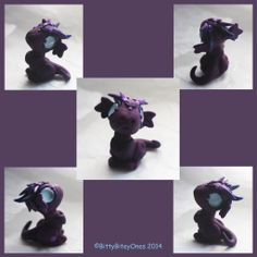 bitty purple marbled dragon by BittyBiteyOnes.deviantart.com on @deviantART