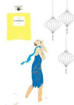 Chanel perfume drawing