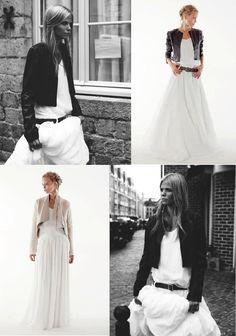 Abito da sposa e giacca in pelle d'agnello - Orlane Herbin (Credits: Stéphane Pariente)