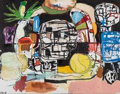"alaspoorwallace: "" Eddie Martinez (American, born Peach Beach, Silkscreen ink, oil paint and spray paint on canvas, × cm Street Gallery, Art Gallery, Frieze Masters, Eddie Martinez, Frieze London, New York Painting, Spray Paint On Canvas, Saatchi Gallery, Contemporary Paintings"