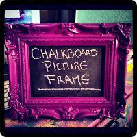 Tutorial: DIY Chalkboard Picture Frame ~ DIY Craft Riot