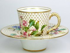 Royal Worcester Trembleuse Cup and Saucer 1889