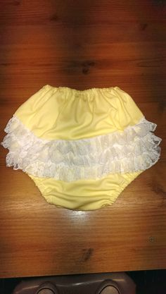 Available in 9 colours. Source by distressrelief Pants Nylons, Frilly Knickers, Funny Baby Memes, Bespoke Clothing, Granny Panties, Plastic Pants, Vintage Pants, Cute Costumes, Baby Pants