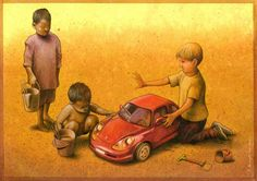 Do check this out...it's brilliant!  Brilliant Satirical Artwork by Pawel Kuczynski.  Pawel Kuczynski is a Polish artist that specializes in satirical illustration. Born in 1976 in Szczecin, Poland, he graduated with a graphics degree from the Fine Arts Academy in Poznan. Pawel has been focusing on satire since 2004 and has garnered nearly a hundred prizes and distinctions since then.