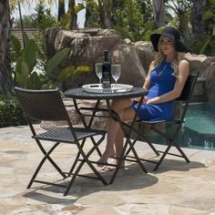 Spring Is For Enjoying The Outdoor Weather And Relaxing! This 3 Piece  Folding Bistro. Patio Furniture ...