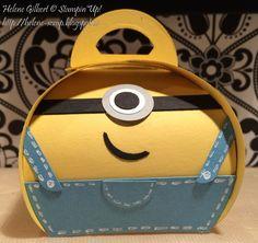 Boîte 3D, Stampin'Up!, Thinlits Boîte à souvenirs arrondie, curvy keepsake
