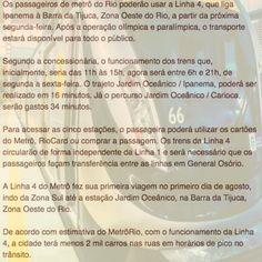 Finalmente a Linha 4 do Metro passa a ser do Carioca [Jornal Extra] ➤ http://extra.globo.com/noticias/rio/linha-4-do-metro-abre-para-publico-partir-de-segunda-feira-20127605.html ②⓪①⑥ ⓪⑨ ①⑥ #RiodeJaneiro