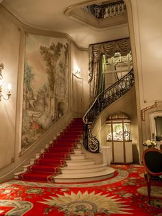 The Ritz, London ~ Colette Le Mason . This reminds me of the lobby of The State Theatre in little Washington PA. Gone now, but it was a magical place for a child to dream! I can smell the popcorn, hot and buttered!