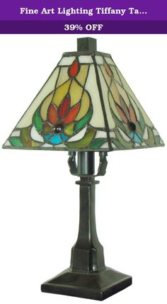 Fine Art Lighting Tiffany Table Lamp, 6 by 12-Inch, 136 Glass Cuts, Mini. Traditional and contemporary elements combine to create a timeless look with the stylish design of this lamp by Fine Art Lighting. An eye-catching complement to any home that will easily blend with your home decor scheme. Featuring hand-crafted stained glass, any visitor will be amazed at the look and feel created by this piece as it brightens your home, and your life, with beauty and elegance.