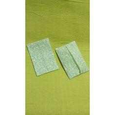 メルカリ商品: 大2個 黄緑白花 #ポケットティッシュカバー #メルカリ
