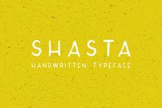 Shasta Typeface by calebwarren on Creative Market