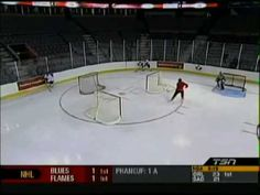 Hockey Canada passing drill 3 nets 2 passers & skaters - YouTube