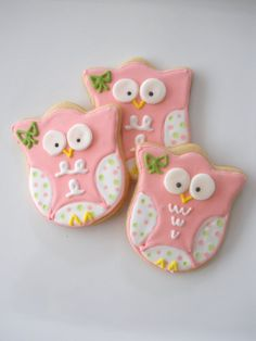Custom Owl Cookies for Jennifer L by TheHappyCaker on Etsy, $96.00