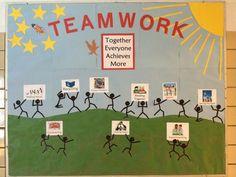 Motivational Workplace Bulletin Boards   Teamwork bulletin board   Teamwork
