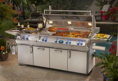 The best gas grills and bbq grills built in the USA. Get the best gas grill of your dreams with a fire magic outdoor grill. Outdoor Heaters, Outdoor Kitchen Design, Outdoor Kitchens, Fire Pit Patio, Fire Pits, Built In Grill, Barbecue Grill, Outdoor Living Areas, Outdoor Spaces