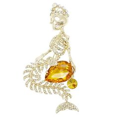 EVER FAITH Gold-Tone Mermaid Skull Crown Teardrop Topaz Color Austrian Crystal Brooch http://www.amazon.com/dp/B00FF3KOZI/ref=cm_sw_r_pi_dp_AdjUvb0ZZCFZC