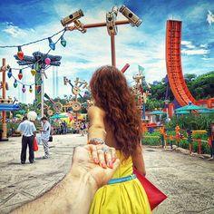 Photographer's girlfriend leads him around the world - Imgur