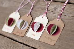Christmas Gift Tags by Little1Paperie on Etsy