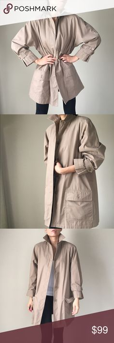 London Fog Limited Edition Trench coat London Fog limited edition coat with detachable lining. Excellent condition..actually don't remember if I ever wore it! Have been in the closet forever. Slightly big for me I think. Size 6 petite and I do believe it runs big for UK size. London Fog Jackets & Coats Trench Coats