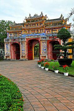 gate, Imperial Citadel, Hue, Vietnam via FF Travel Club Hanoi Vietnam, Vietnam Travel, Asia Travel, Laos, Travel Around The World, Around The Worlds, Places To Travel, Places To Visit, Vietnam Holidays