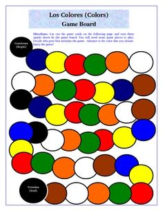 Fun for reviewing colors in Spanish. - also, do that activity where you have to read the word not the color of the word :)