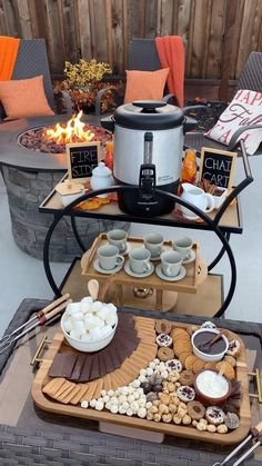 Warm up by the fire with this step-by-step fireside pumpkin spice chai cart!