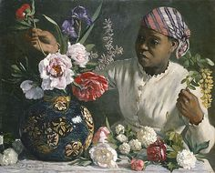Frédéric BAZILLE | African Woman with Peonies