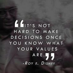 At the heart of values-based management, are value-aligned decisions and choices.
