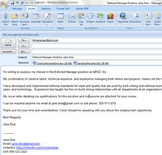 6 Easy Steps For Emailing A Resume And Cover Letter  Email Cover Letter Samples