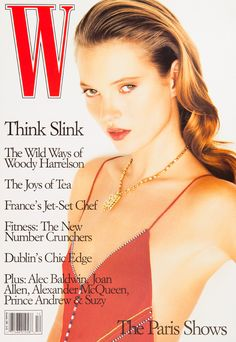 W Magazine's Supermodel Cover Girls - Kate Moss on the cover of W Magazine December 1996