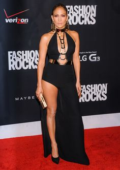 Jennifer Lopez in Versace at the Fashion Rocks event 2014